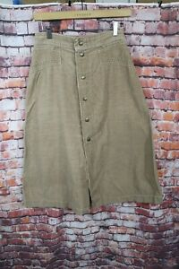 70s Corduroy Skirt S High Waisted Corduroy Skirt 28 Camel Brown Corduroy Skirt Womens Small Corduroy A-line Skirt Deadstock 70s Shift Skirt