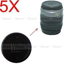 5x Rear Lens Cap Cover for Olympus Micro 4/3 M.Zuiko Digital 60/2.8M, 8/1.8