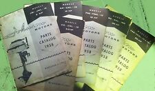 TWO complete series of Johnson parts catalogs 1958