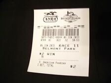 2015 Belmont Stakes American Pharoah $2 Win uncashed ticket