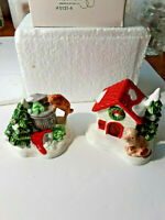 DEPARTMENT DEPT 56 SNOW VILLAGE CAT AND DOG & EXCELLENT IN BOX DV14