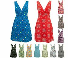 Crossover Dress Loud Originals Womens Sleeveless V-Neck Summer Casual