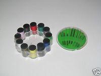 Set Boite 30 Aiguilles + Set 12 Mini Bobines de Fil Couleur Mix Travaux Couture