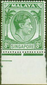 Singapore 1952 8c Green SG21a Fine Lightly Mtd Mint