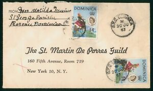 Mayfairstamps Dominica 1963 to St Martin de Porres Guild Woman in Costume Cover