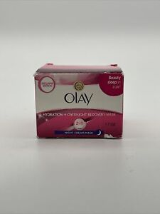 Olay Hydration + Overnight Recovery Mas, Night Cream Mas, 1.7 oz