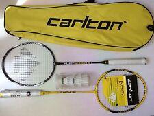New Carlton Badminton Set 2 Players 2 Rackets  3 Shuttlecocks in Case