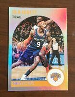 RJ Barrett Silver Prizm Panini NBA Hoops 2020-21 Tribute Card #265