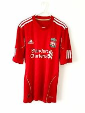 Liverpool Home Shirt 2010. Small. Adidas. Red Adults Short Sleeves Football Top.