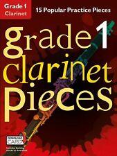 Grado 1 Clarinetto Pezzi Impara a giocare POP HITS MUSICA Exam BOOK & Download Card