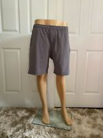 "Myles Apparel Men's Everyday Shorts Long Inseam 9"" Gray Size Large"