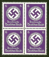 DR Nazi 3rd Reich Rare WW2 Stamp Hitler's Service Classic Nazi NSDAP Post Stamp