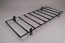 Cross Tread Gutter Mount 850 Series Full Coverage Steel Van Rack - White - 85103