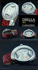 Luxury Cavadini Women's Watch Design Piece O.Vaganza Swiss Reptile Leather Made