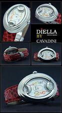 LUSSO CAVADINI Orologio donna design PEZZO O.Vaganza Swiss Reptil pelle made