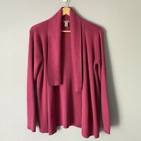Chico's Pink Open Front Draped Cardigan Long Sleeve Size 2 / Large L