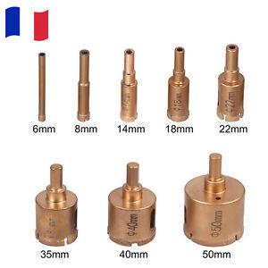 8pcs Forets de diamant en céramique Scie-cloche perçage de carrelage 6–50 mm