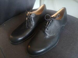 Zara Black Leather Oxford Brogue Women's Shoes Size 7
