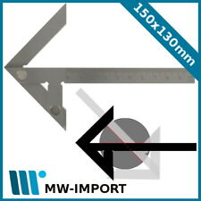 Zentrierwinkel 150 x 130 mm, Welle bis 190 mm, in Etui, METEHA