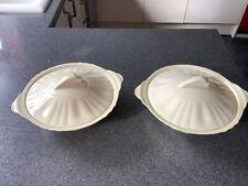2 x cream jacobean ware veggable tureens by j&g meakin
