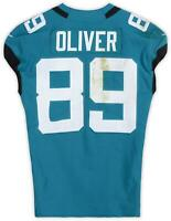 Josh Oliver Jacksonville Jaguars GU #89 Teal Jersey vs New York Jets on 10/27/19