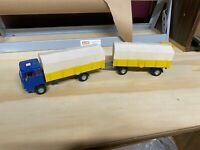 Vintage Dinky Toys #917 Mercedes Benz LP 1920 Covered Truck With Trailer