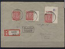 SBZ Postmeistertrennung 119 B X auf R-Brief nach Etzdorf BPP-geprüft (B05140)