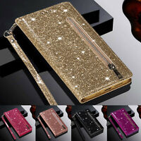 For Samsung Note 20 Ultra S20 FE Note 10 Glitter Case Flip Leather Wallet Cover