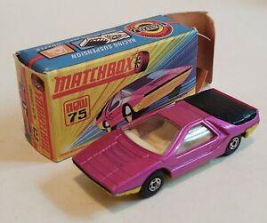 75-D1 EXC/NM w/G Box Alfa Carabo Superfast Lesney Matchbox circ '71