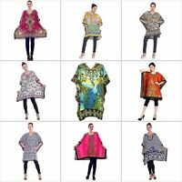 Tunic Top Kaftan Size Caftan Blouse Summer short Cover Up Dress Women Sleeve Low