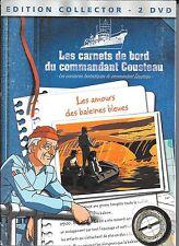 2 DVD ZONE 2--DOCUMENTAIRE--LES CARNETS DE BORD DU COMMANDANT COUSTEAU