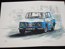 RENAULT 8 GORDINI COUPE 1968 RAGNOTTI tirage numéroté et signé