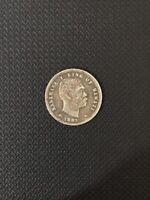 Coin 12.5 cents 1883 1.8 dollars Hawaii