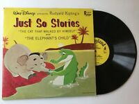 WALT DISNEY Just So Stories DQ1268 1964 NM vinyl LP Rudyard Kipling+bonus CD