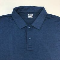 NWT 32 Degrees Cool Polo Shirt Men's 2XL XXL Short Sleeve Navy Polyester Blend
