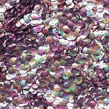 5mm Cup SEQUIN FACET Loose PAILLETTE ~ Tutti Frutti Sherbert Metallic Rainbow