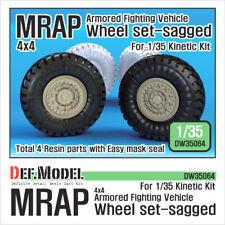 Def. modelo, DW3064, MRAP hundida Juego De Llantas (para Kinetic 1/35), 1:35