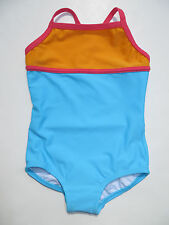 Hanna Andersson Swimsuit One Piece 100 110 Girls Sky Blue NEW Colorblock NWT