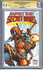 Deadpool's Secret Secret Wars #1 CGC 9.8 SIGNED & SKETCH JOSE VARESE Sketch Edit