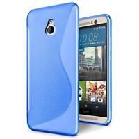Handy Hülle für HTC One Mini Silikon Case Slim Cover Schutz Hülle Tasche Blau