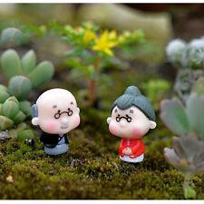 Cute Miniature Old Granny Grandpa Crafts Ornament Fairy Garden Home Decorations
