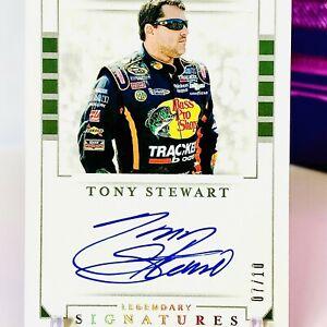 Tony Stewart Legendary Signatures AUTO SSP #7/10! 2020 National Treasures NASCAR