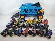HUGE LOT 21 Hot Wheels Monster JAM/TRUCKS 1:64 Diecast Great cond W/BIG TRUCK