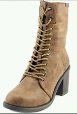 BLOWFISH MAMMER WHISKEY OLD RANGER PU WOMEN'S LACE-UP BOOTS SIZE 9M NEW