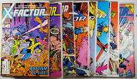 X-Factor Lot of 15 Copper Age Marvel Comics! Mid Grade & VF See Listing!
