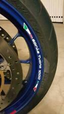 ADESIVI PER CERCHIONI MOTO wheels stickers lateral standart stripes per Aprilia