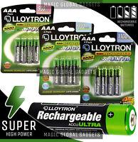 Lloytron AAA Rechargeable Batteries NiMH HR03 Cordless Phone 550 900 1100mAh