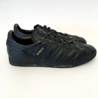 Adidas Gazelle Trainers Sneakers Shoes Leather US 13 Triple Black Colourway