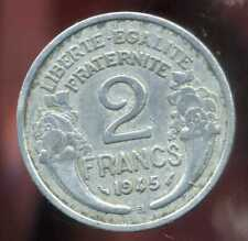 2 FRANCS  morlon alu 1945 B  ( 4 )