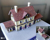 """Built Up Train Station 110 mm x 40 mm (4.3"""" x 1.6"""") for NOCH Z Layout"""